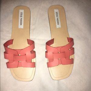 Steve Madden peach Sandals brand new